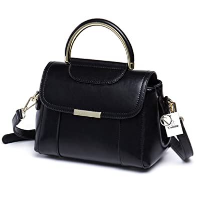 ea21575b028 Yoome Women Genuine Leather Designer Handbags Purse Top Handle Tote Satchel  Shoulder Crossbody Bags