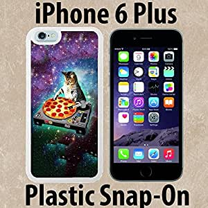 DJ Kitty Cat Mix Stellar Pizza Custom made Case/Cover/skin FOR iPhone 6 PLUS -White- Plastic Snap On Case ( Ship From CA) by runtopwell