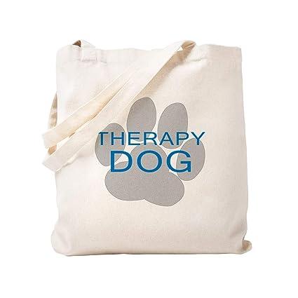 24c32baa902 CafePress Therapy Dog Natural Canvas Tote Bag, Cloth Shopping Bag