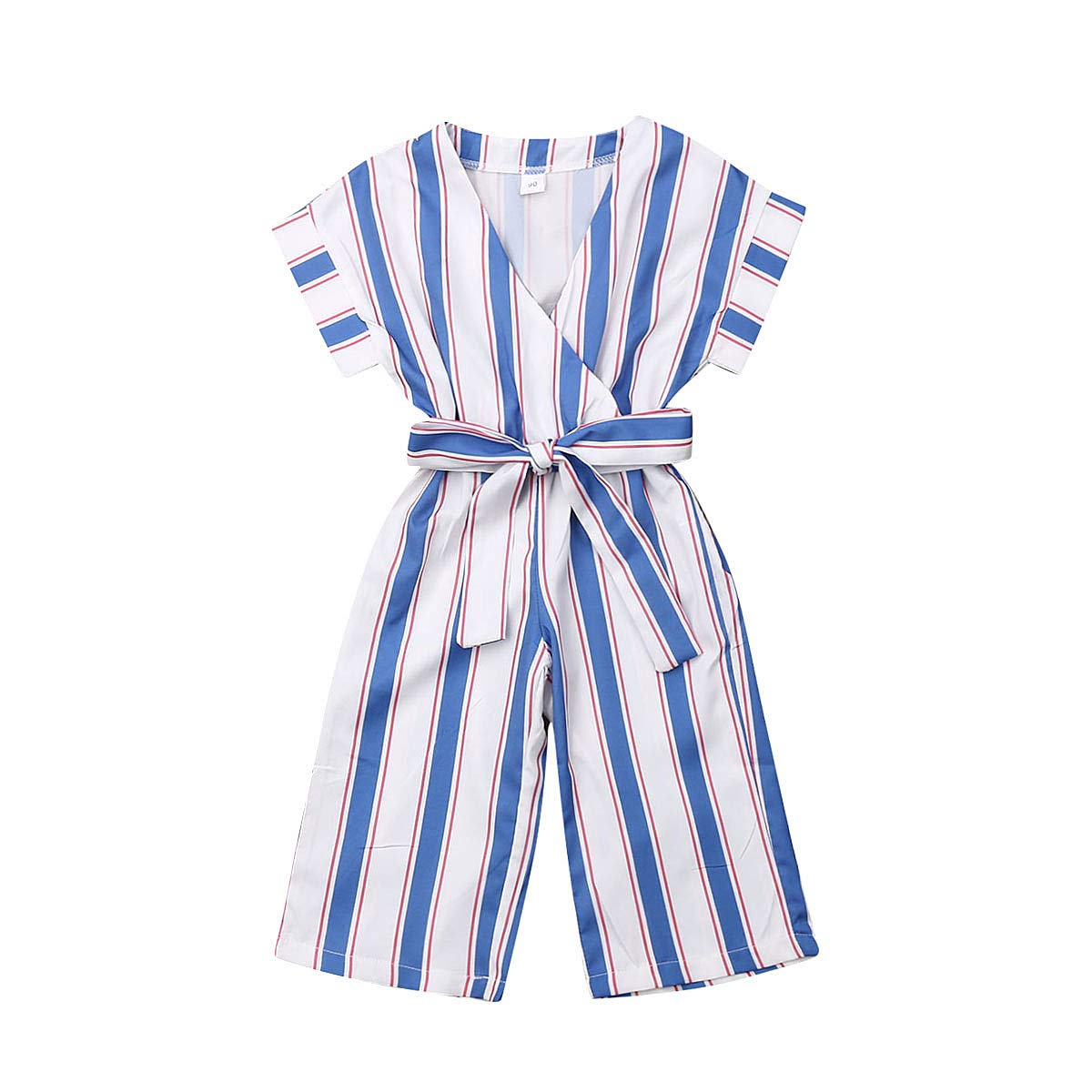 Baby Girls Kids Suspender Overall Jumpsuit Romper Bell-Buttom Pants