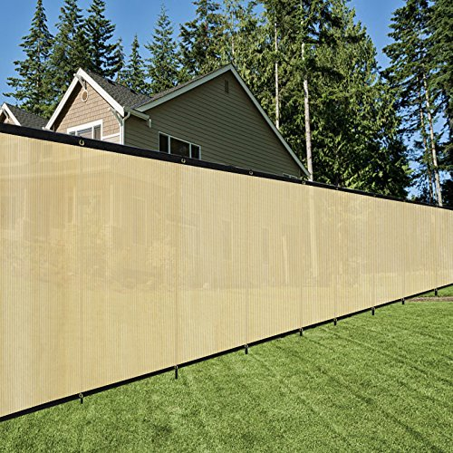 Originline 5x10ft Tan Fence Privacy Screen with 20 Zip Ties & Grommets/Shade Cloth/Shade Fence/Commercial Backyard Fence by Originline