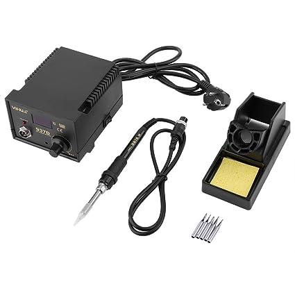 YIHUA 937d Soldadura pequeño – Estación desoldadora Digital temperaturgeregelt regulable heissluftpistole Juego profesional para teléfono móvil