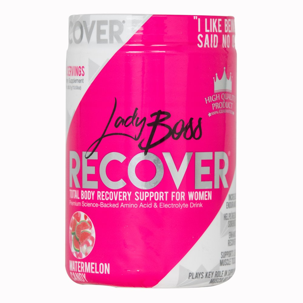 Premium BCAA Muscle Recovery Endurance Drink - LadyBoss Recover - Science Backed Post Workout Amino Energy Powder for Women - Reduce Soreness & Support Lean Muscle Tone - 30 Servings