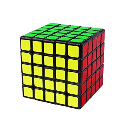 Alician 6.3CM 5x5 Wear Resistant Magic Cube Toy for Kids Black Bottom