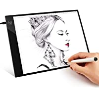 LED Tracing Board, Light Box Drawing Table Pad Digital A4 Copy Board Graphic Tablet for Drawing Panel (Stepless Dimming)