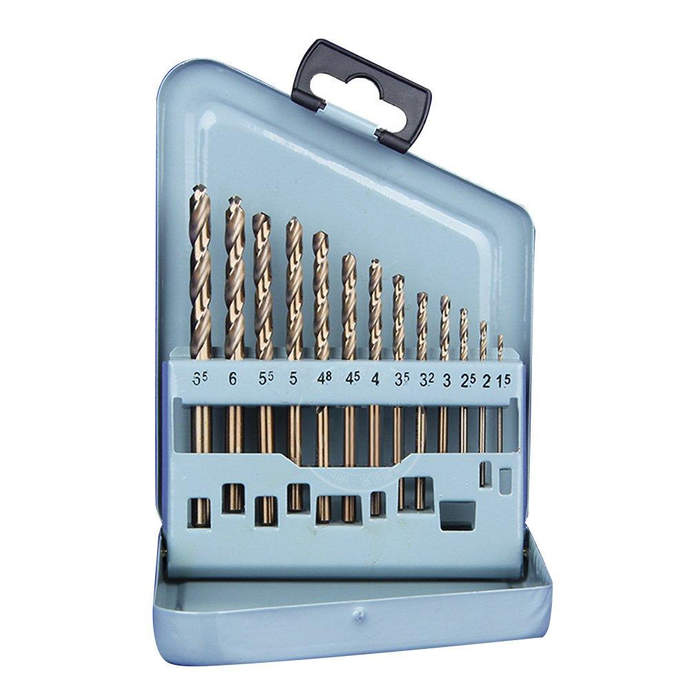SHINA 13pcs / lot gros dur Tungstè ne Cobalt HSS Drill Bit 1.5mm-6.5mm pour Dremel Scie Fer Cuivre Aluminium Acier inoxydable