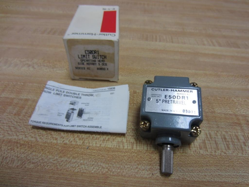 EATON CUTLER HAMMER E50DR1 LIMIT SWITCH OPERATING HEAD
