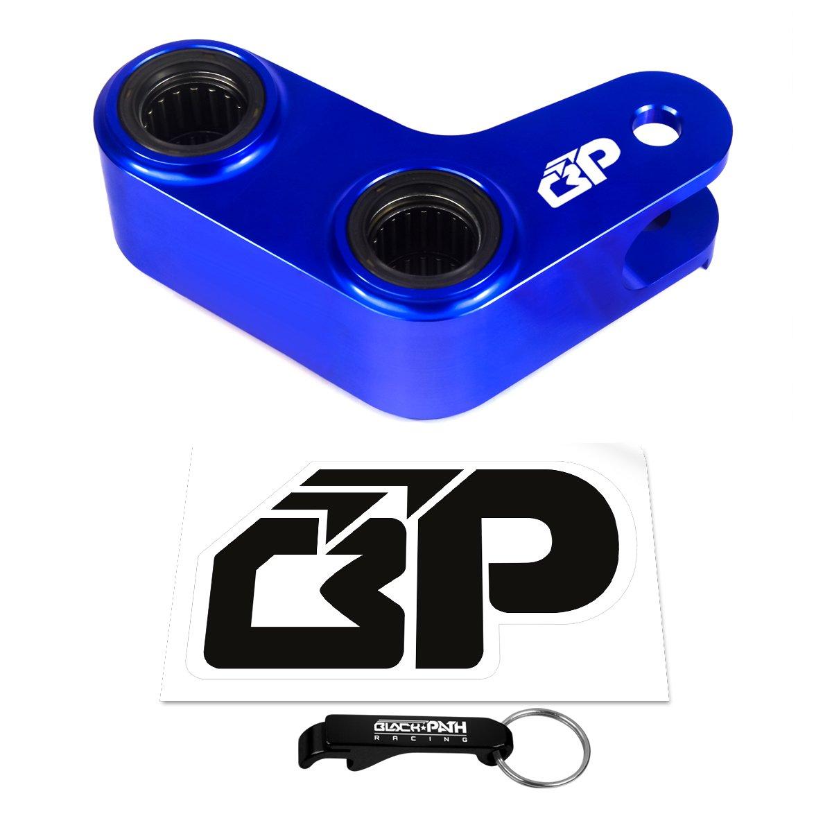 BlackPath - Yamaha 1.5 Inch Adjustable Rear Lowering Link Kit YZ400 + YZ426F + YZ450F + WR250F + WR450F Motorcycle Drop Links (Blue) T6 Billet by Black Path