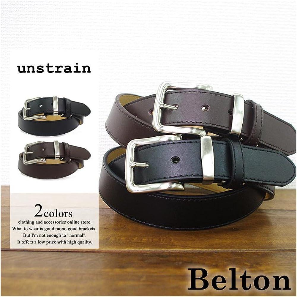 Belton Mens bonded leather belt Metal Loop