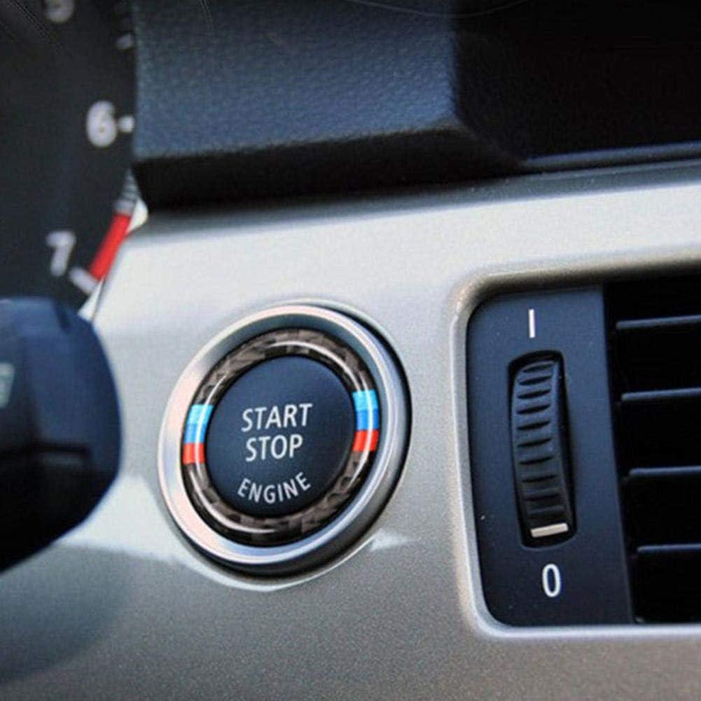 E93 E92 lā Vestmon Anello Decorativo Anello Chiave Anello Decorativo in Fibra di Carbonio per Auto Serie 3 E90