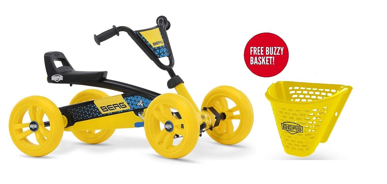 Berg Buzzy Pedal Go Kart with Free Buzzy Basket Yellow