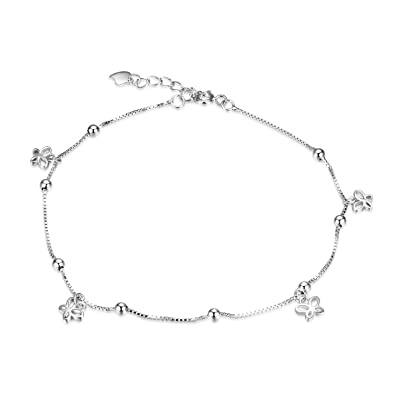 92.5% Sterling Silver Anklet Ankle Bracelet Jewelry Bangle Various Styles Fashion Jewelry
