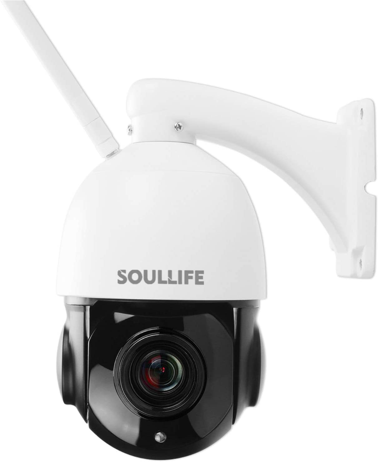 SoulLife 5MP Security Camera Outdoor, 20X Optical Zoom Compatible with CamHi, Home Surveillance IP Camera with Pan/Tilt IP66 328ft Night Vision, 2-Way Audio, Motion Detection and Instant Alert