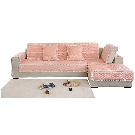 Yyl Plush Sofa Cushions Thickening Stay Put Flannel Cushion Autumn