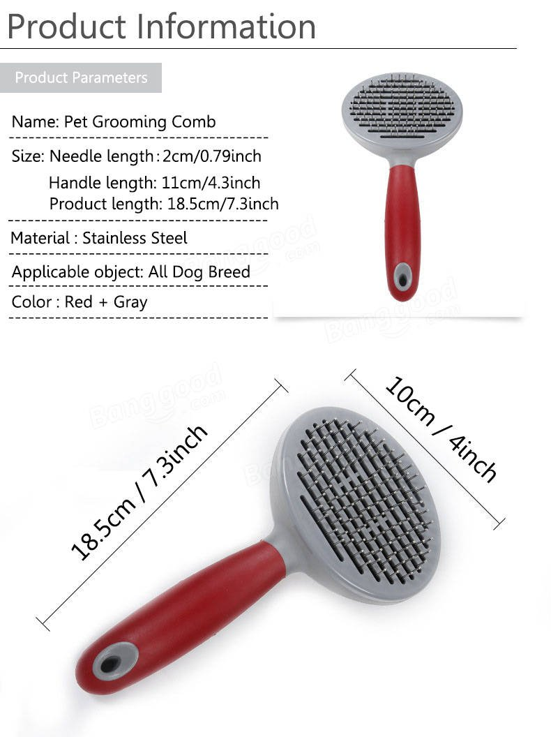 Favourite Pet Grooming Comb Cat - Professional Pet Grooming Comb Dog Cat Hair Removal Stainless Steel Massage Brush Comb - Loved Preparation Cockscomb Ducky Dressing Ransack - 1PCs