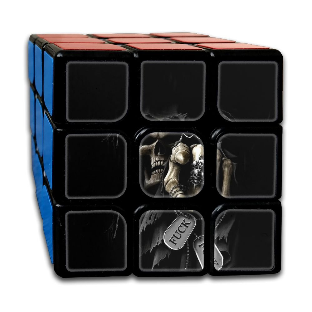 AVABAODAN Skull Fuck Cross Rubik's Cube Original 3x3x3 Magic Square Puzzles Game Portable Toys-Anti Stress For Anti-anxiety Adults Kids