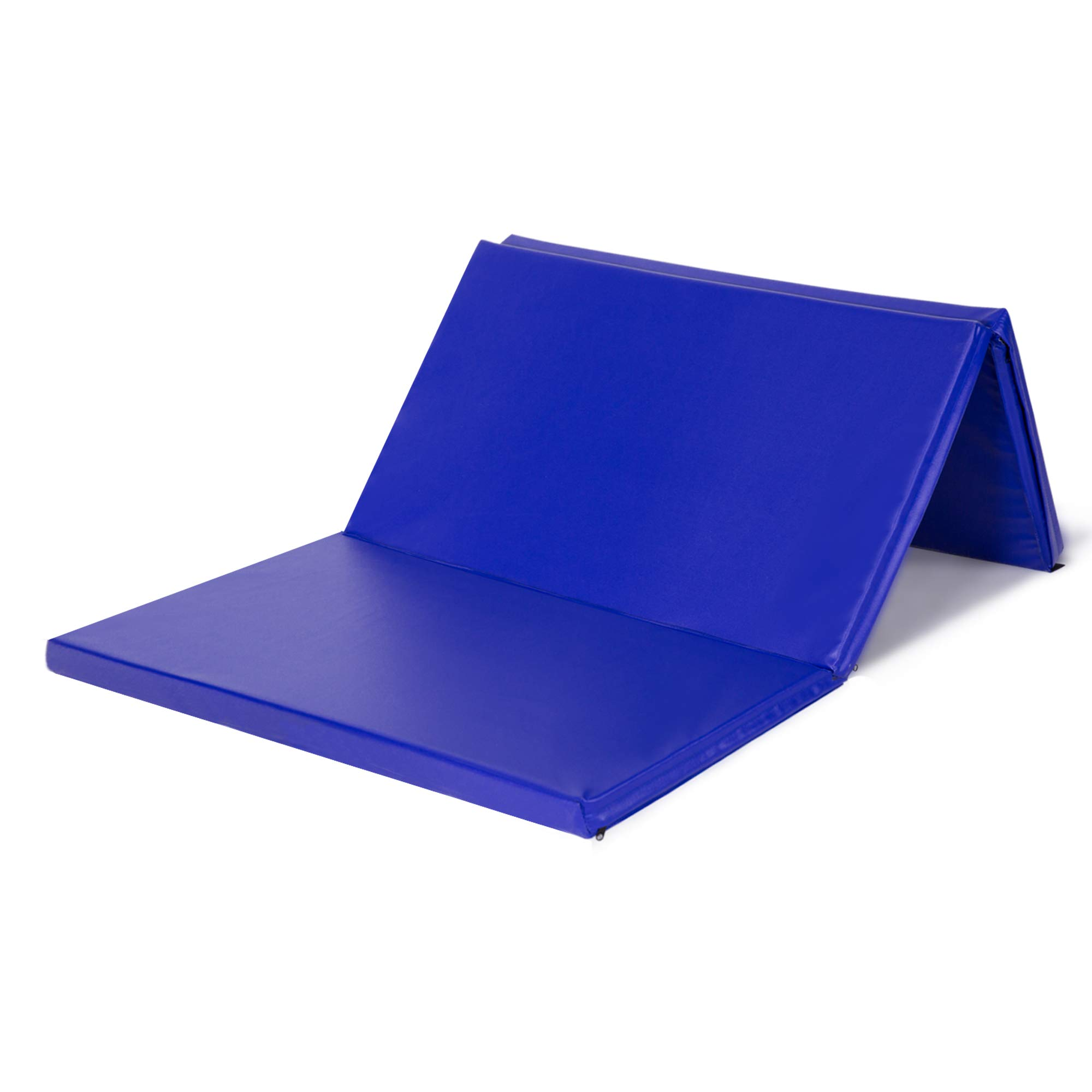 Homevibes 4'x6'x3 Gymnastics Tumbling Mat Thick Folding Panel Martial Art Mats Gift for Home Gym Fitness Exercise Crossfit Training, Blue