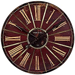 Large Weathered 29 1/4 Round Red Wall Clock by IMAX