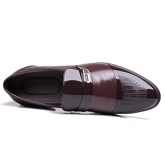 Englisch Business Anzüge Schuhe Herrenschuhe Frühling Und Herbst Hochwertig  Leder Spitz Lässige Lederschuhe Männer  Amazon.de  Bekleidung b24855639a