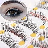FidgetFidget 10x Handmade Artifical Black False Eyelashes Makeup Fake Eye Lash #M-2