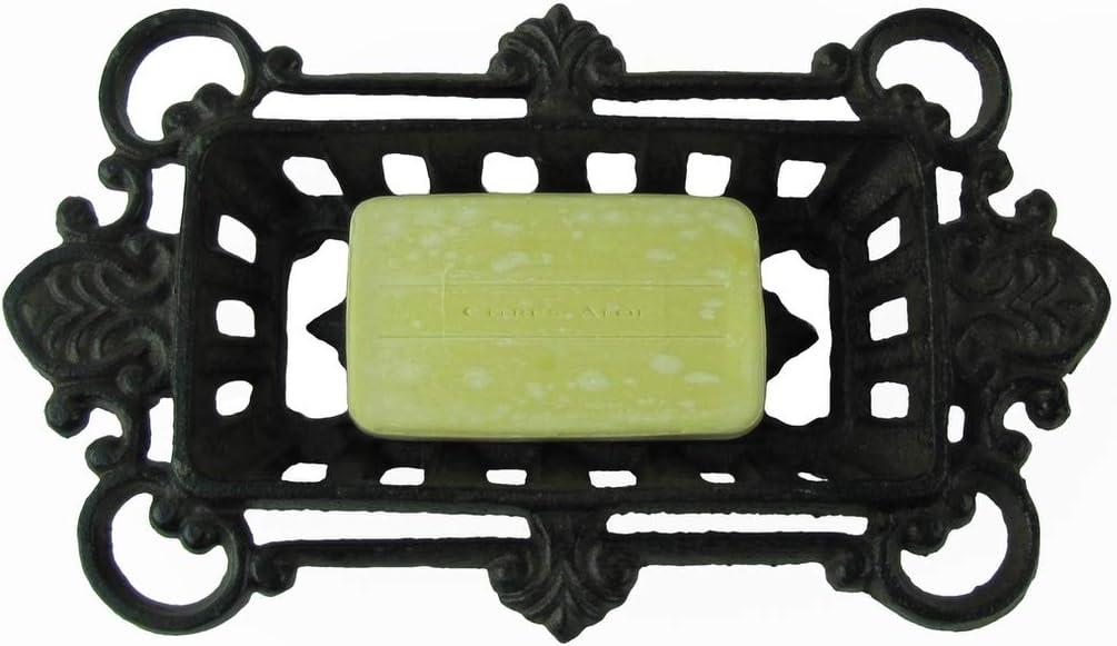 Sponge Dish Holder for home Fancy Cast Iron Soap kitchen bath decor