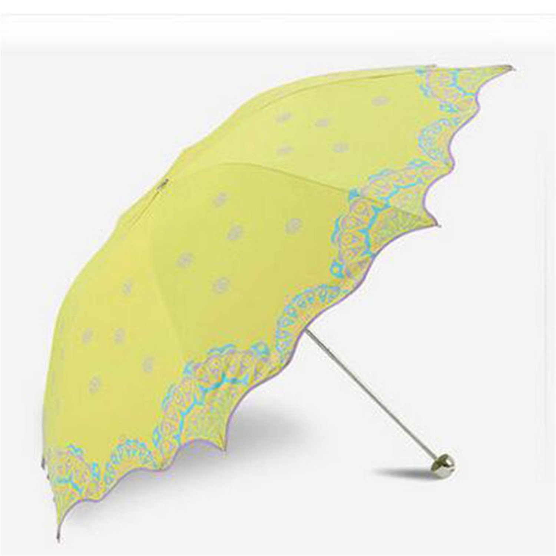 Amazon.com : Reinhar Beach Folding Sun Umbrella UV Protection Women Adults Paraguas Plegable Waterproof Sun Umbrella Big Windproof Rain Yellow : Sports & ...