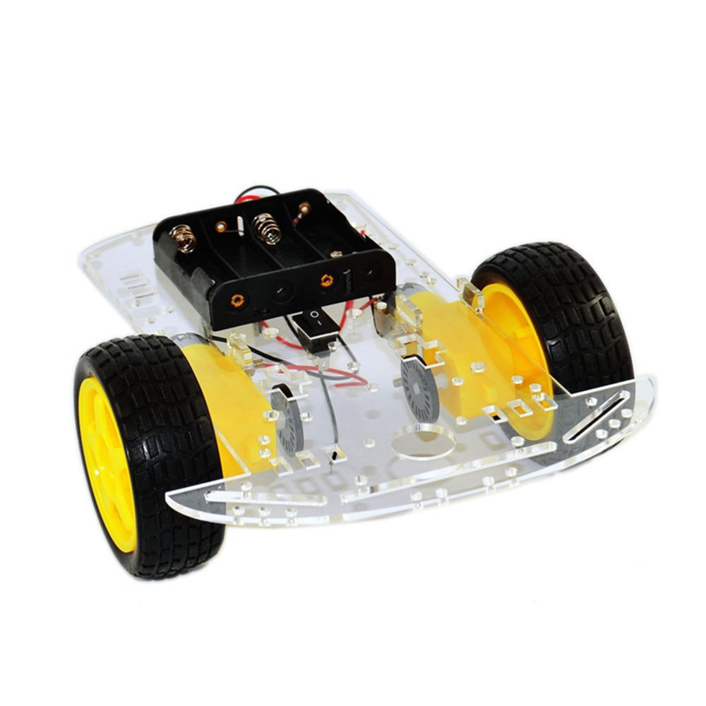 2WD Robot Smart Car Chassis DIY Kits Intelligent Engine with Tracking Speed and Tacho Encoder 65x26mm Tire for Arduino Raspberry Pi (2WD) diymore