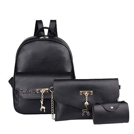 Moda Summer bolsa de correa doble, yesmile Mujeres Quattro Juego Mochila Bolso bolsos hombro Quattro piezas Tote Bag Crossbody: Amazon.es: Iluminación