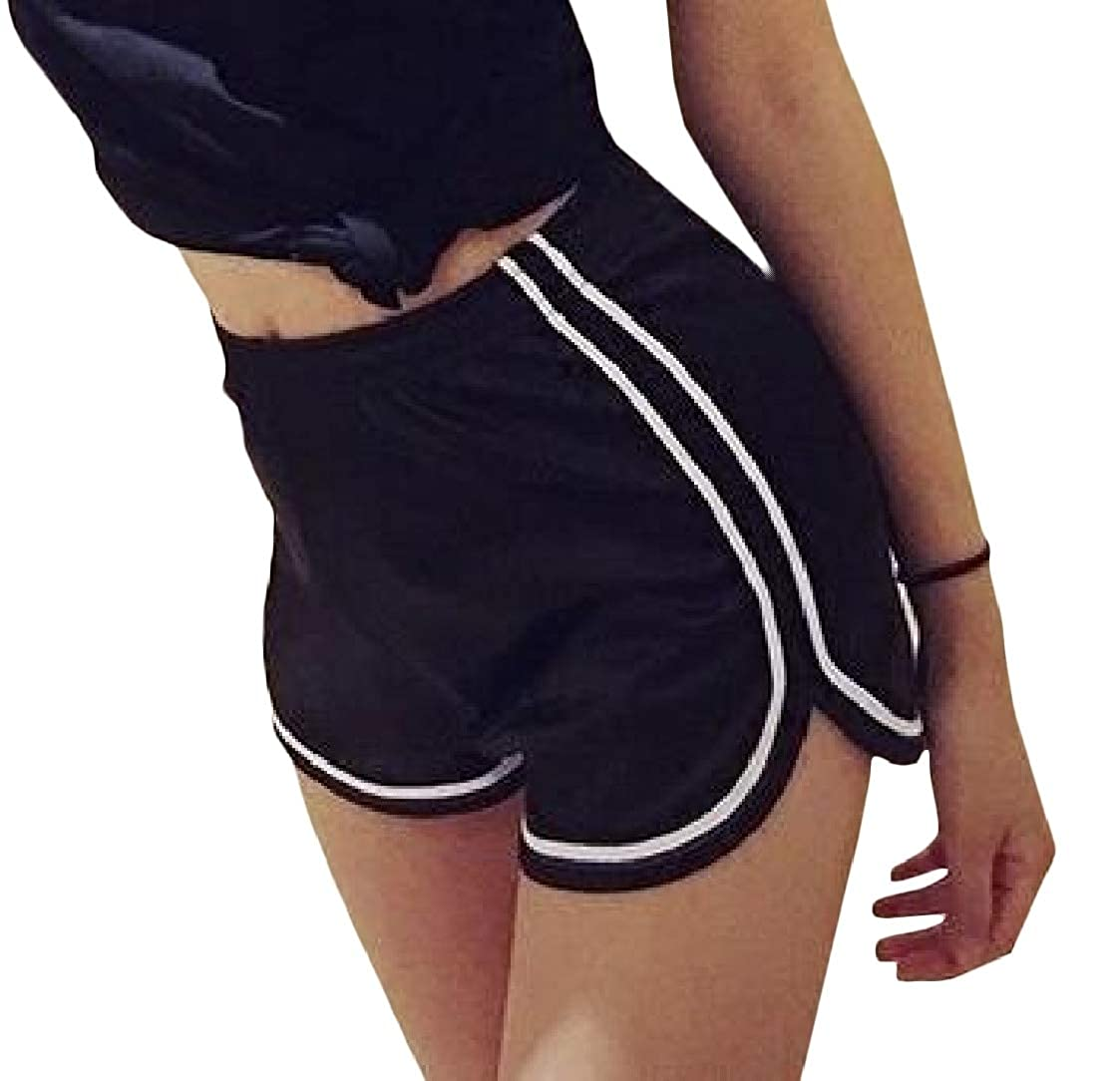 Pandapang Womens Stretchable High Waist Smoother Athletic Casual Short