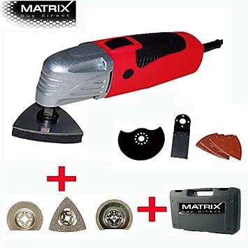 MATRIX Multifunktionswerkzeug Multitool MT Set Inklusive - Schleifpapier für fliesen