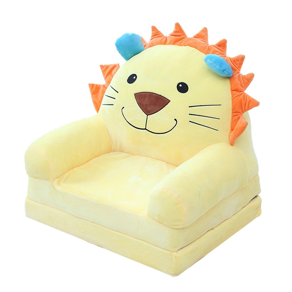 ALUS- Child Seat Cute Cartoon Chair Cushion Children's Room Reading Stool Color Beautiful Comfortable Mini Sofa 50cm40cm47cm (Color : B)