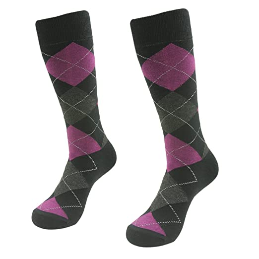 5176c6ccc9511 Men's Dress Socks, SUTTOS Mens funky Socks Men's Classics Dress Argyle Crew  Socks, Patterned