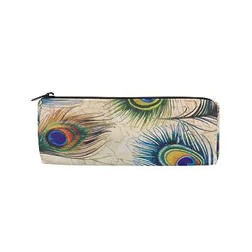 Bennigiry - Estuche para lápices de plumas de pavo real ...