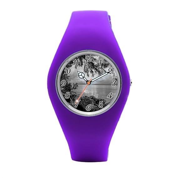 Reloj de pulsera mujer Lee County Kayak para hombre reloj deportivo: Amazon.es: Relojes