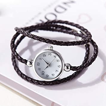 LKTGBRCVZJU Relojes Marea Reloj de Pulsera de Mujer Impermeable para Mujer Reloj de Pulsera de Piel sintético Simple para Mujer 2017 New Trend Quartz, ...