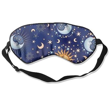 HOJIKD Máscara de Dormir de Seda de Morera y Máscara de Dormir – Divertida y Luna