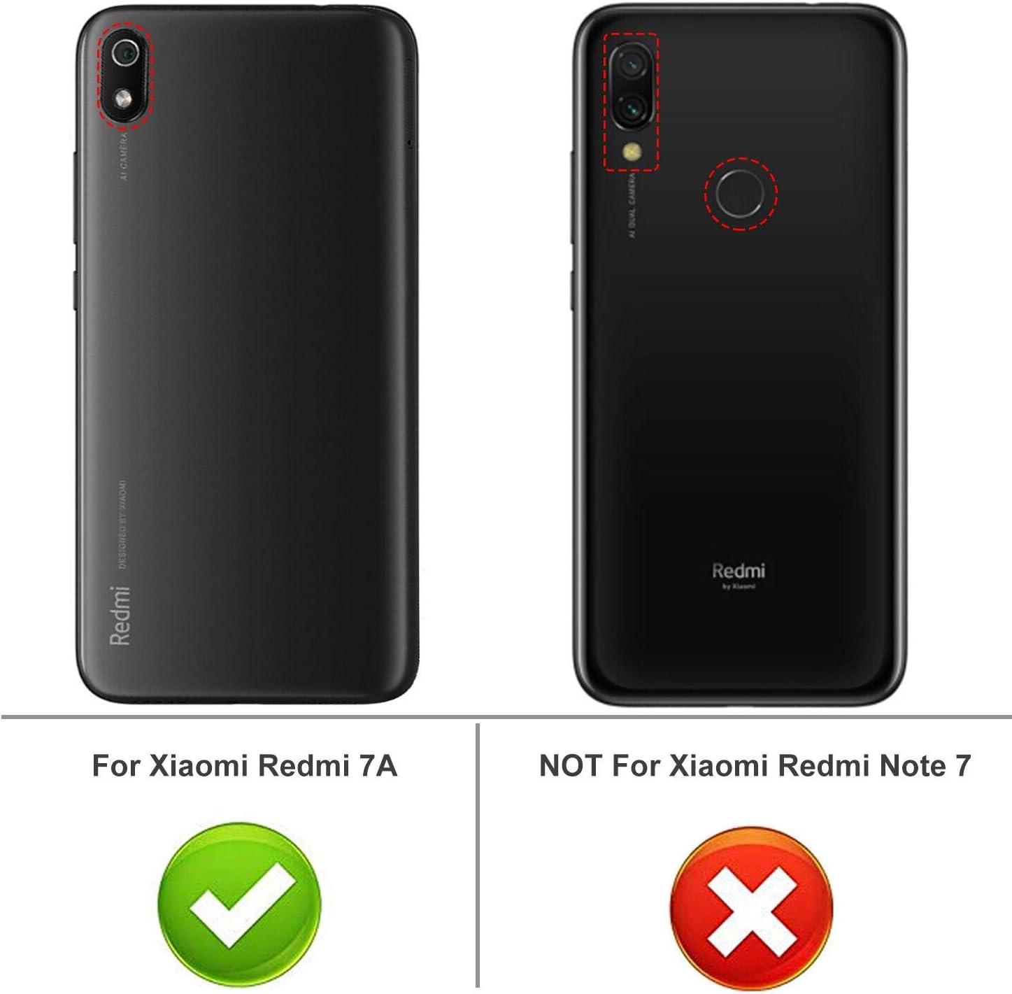 iBetter para Funda Xiaomi Redmi 7A Funda, TPU con Superficie Mate ...