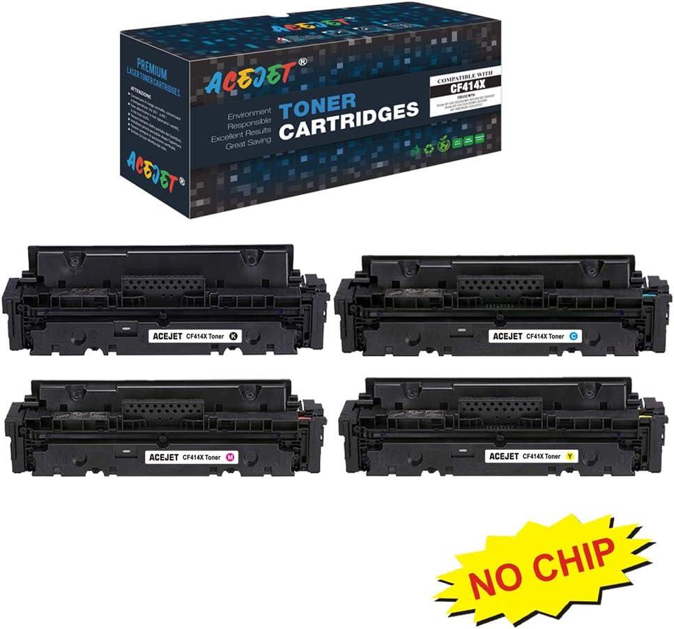 ACEJET Compatible 414A 414X Toner Cartridges Replacement for HP 414X Toner W2020X W2021X W2022X W2023X Toner Cartridge for Use in HP Color Laserjet Pro M454 MFP M479 Printer(BK/C/M/Y) 4-Pack