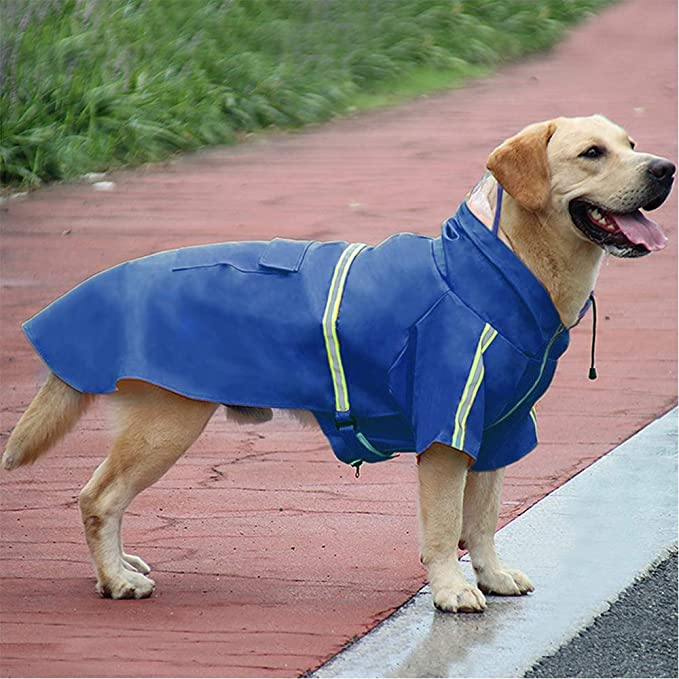 226 Black WaterproofBreathable Dog Raincoat with Purple Fleece Interior Whippet Dog Coat