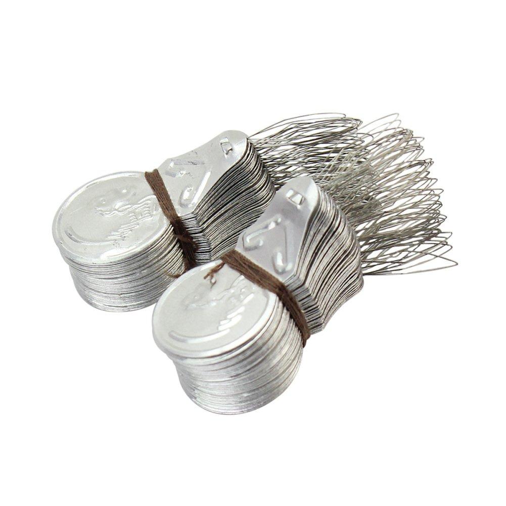 100x Silver Tone Wire Loop DIY Needle Threader Stitch Insertion Hand Machine Sewing Tool Quilting Craft Pinzhi® SPQLUF468