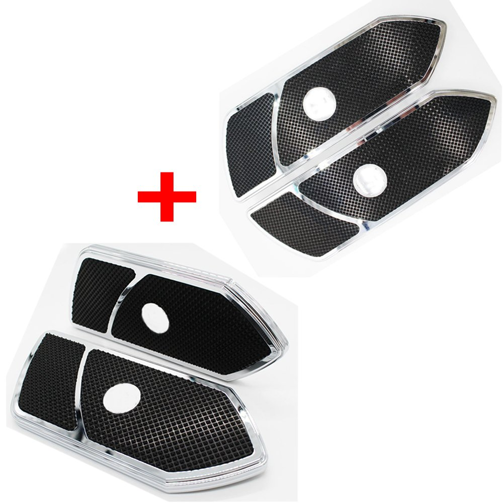 GLAD CRE8 Black Front and Rear Passenger FloorBoard Foot Board Rest Pegs For Harley Davidson Touring 1984-2017 FLH/FLT Softail