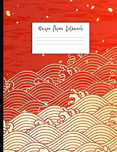 Graph Paper Notebook: Japanese Style Waves Quad Ruled 4 x 4 (.25'') Composition Book for Math & Science Students and Teachers