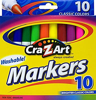 Cra-Z-Art 10002 Classic Colors Washable Markers 10 Count Crazy Aaron/'s Puttyworld