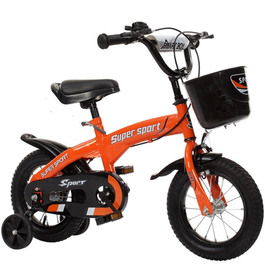 QFF 子供用自転車、オレンジオプションのフラッシュアシストホイールリアシートケトル高炭素スチールボディ丈夫で安全な子供用に設計された2-10 88-121CM ZRJ (色 : A, サイズ さいず : 115CM) B07DNYMQXC 115CM|A A 115CM
