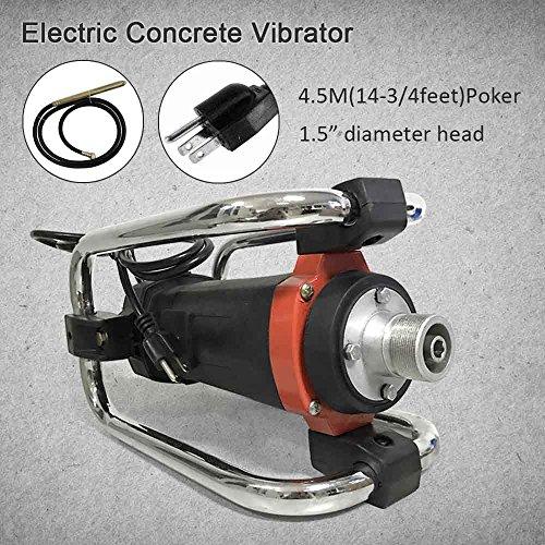 Hand Held Electric Concrete Vibrators - 1100W Remove Bubbles Level Tool 14-3/4feet 1.5hp 16000 rpm (1100W)