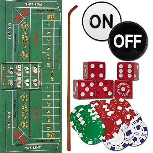 Trademark 10-3020-set Craps Set - All The Pieces to Play Now Craps Set, Multi (Craps Table Accessories)