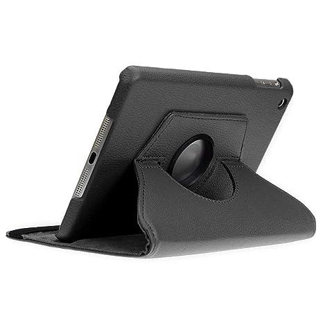 doupi Deluxe Protección Funda para iPad mini 1 2 3, Smart Sleep/Wake Up función 360 grados giratoria del caso del soporte bolsa, Negro