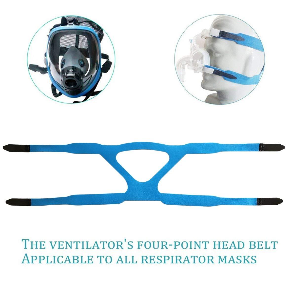 Kongqiabona Universal Headgear Comfort Gel M/áscara Completa Safe Environmental Replacement CPAP Banda para la Cabeza Sin m/áscara Adecuado para PHILPS