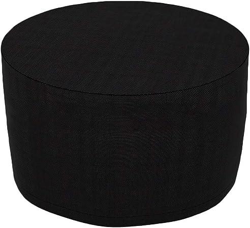 Bclaer72 - Funda para Muebles de jardín, Funda Impermeable para Muebles de Exterior de Alto Rendimiento, Forma Redonda, antirayos UV, Tejido Oxford Transpirable, No Cero, Negro, 142x68cm: Amazon.es: Hogar