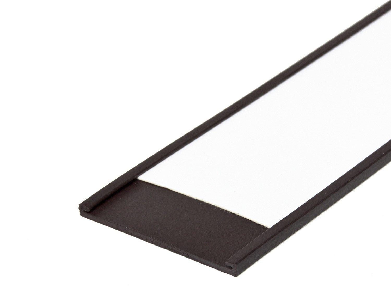 25-50 mm Breite inkl Etikettenleiste Breite:25 mm Etikettenhalter magnetisch Profil C Etiketten